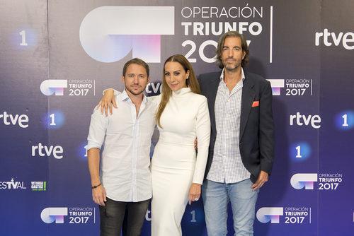 Manuel Martos, Mónica Naranjo y Joe Pérez-Orive, jurado fijo de 'OT 2017'