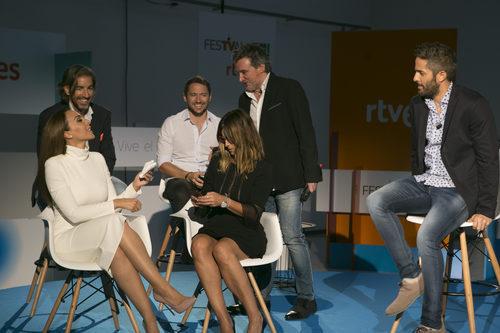 Mónica Naranjo, Manuel Martos, Joe Pérez, Noemí Galera y Roberto Leal, de 'OT 2017, en el FesTVal