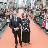 Imanol Arias y Adriana Ozores, actores de 'Velvet colección', juntos en el FesTVal