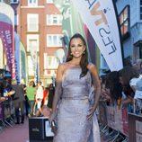 Paula Echevarría, vestida de largo y posando en el FesTVal