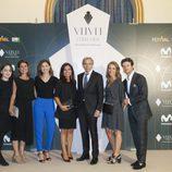 Imanol Arias y Diego Martín, en la presentación de 'Velvet colección'