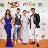 Isaac, Elettra Lamborghini, Ferre y Adela, participantes de 'MTV Super Shore 3', en el photocall del FesTVal