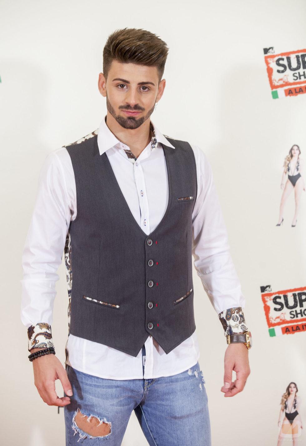 Isaac, participante de 'MTV Super Shore 3', en el photocall  del FesTVal