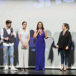 Isaac, Elettra Lamborghini, Ferre y Adela en la presentación de 'MTV Super Shore 3' en el FesTVal