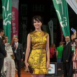 Verónica Sánchez en la alfombra naranja del FesTVal para la presentación de 'Tiempos de guerra'