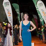 Andrea Duro en la alfombra naranja del FesTVal de Vitoria