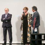 Sonia Martínez y Jaume Banacolocha en el escenario del FesTVal de Vitoria