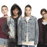 Daniel Ibañez, Nerea Elizalde, Óscar Casas, María Pedraza, Lucía Díez y Jorge Motos en la promo de 'Si fueras tú'