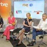 Inés Ballester, María Casado y Macarena Berlín en la presentación de sus programas en RTVE