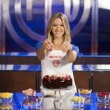 Patricia Montero sonríe en las cocinas de 'MasterChef Celebrity 2'