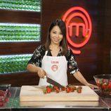 Usun Yoon rodeada de frutos rojos en 'MasterChef Celebrity 2'
