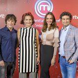 El jurado de 'MasterChef Celebrity 2' y Eva González, juntos en el photocall