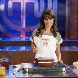 Marina San José coge el cuchillo de 'MasterChef Celebrity 2'