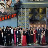 El equipo de 'The Voice' recibe un premio en los Emmy 2017