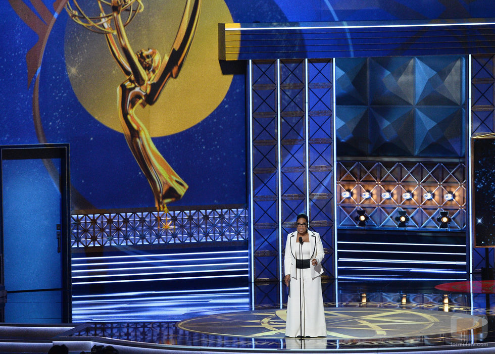 Oprah Winfrey en la gala de los Emmy 2017