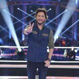 Sonrisa de Manuel Carrasco posando en 'La Voz 5'