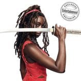 Danai Gurira (Michonne) por los 100 capítulos de 'The Walking Dead'