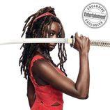 Danai Gurira (Michonne) por los 100 capítulos de 'The Walking Dead'