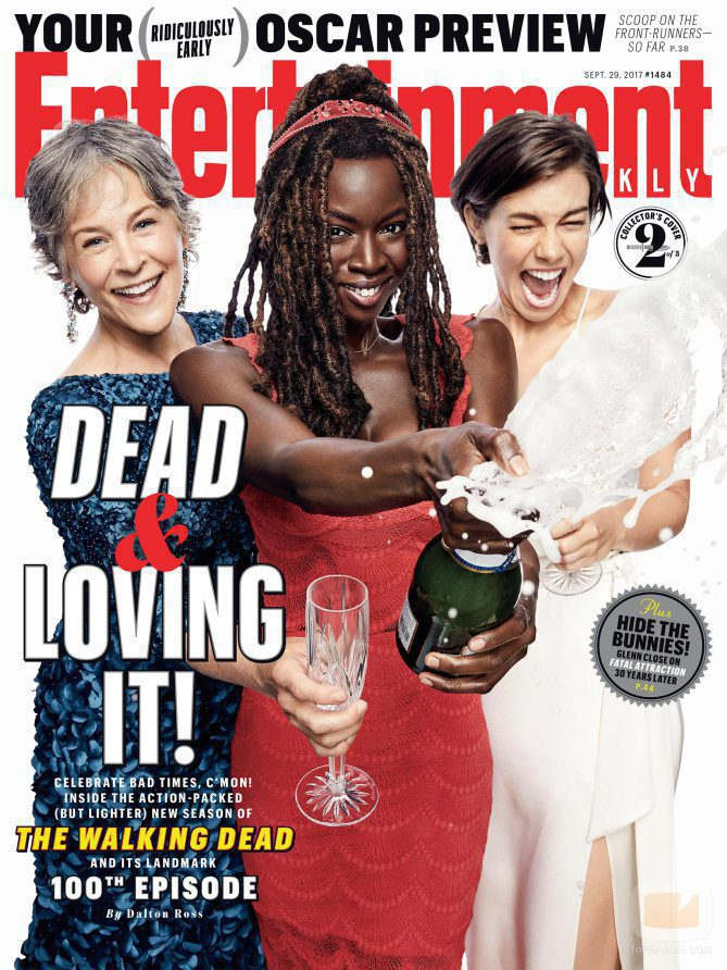 Melissa McBride, Danai Gurira y Lauren Cohan, portada de la revista Entertaiment