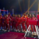 Los concursantes de 'GH Revolution' en la prueba semanal durante la segunda gala