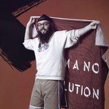 Juan Antonio Labory posa con la bandera de 'GH Revolution'