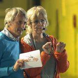 Jesús Calleja junto a Mercedes Milá en 'Volando voy'