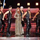 Lucía Jiménez, concursante de 'Tu cara me suena 6', imita a Shania Twain junto al equipo de bailarines