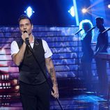 Miquel Fernández ('Tu cara me suena 6') es Robbie Williams en la primera gala
