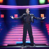 Fran Dieli, de 'Tu cara me suena 6', viste de negro en la primera gala