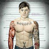 Ramsay Bolton ('Juego de Tronos') en un reconocimiento policial totalmente tatuado
