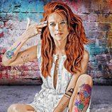 Ygritte ('Juego de Tronos') posa totalmente pensativa con tatuajes identificativos de su personaje