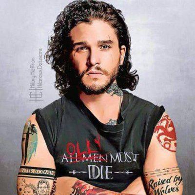 Los personajes de 'Juego de tronos' tatuados por Hilary Heffron