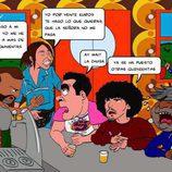 Ilustración del bar de 'La que se avecina' por Pepe Alabarce