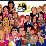 Ilustración de todos los personajes de 'La que se avecina' de Pepe Alabarce por los diez años