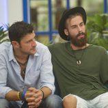 José María junto a Miguel, uno de los nominados de la cuarta gala de 'GH Revolution'