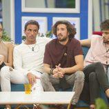 Miriam, Hugo, Christian y Rubén durante las nominaciones de la cuarta gala de 'GH Revolution'