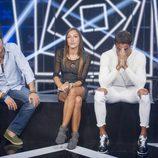Miguel, Yolanda y Hugo, nominados, en la sala de expulsión de 'GH Revolution'