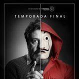 Paco Tous, Moscú en 'La Casa de Papel', protagoniza un póster de la temporada final