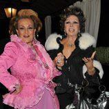 Carmen Sevilla y Marujita Díaz en un evento