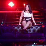 """Lucía Gil imita a Becky G e interpreta """"Mayores"""" en la tercera gala de la sexta edición de 'Tu cara me suena'"""