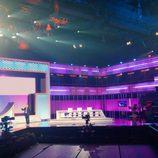 Zona de concursantes y jurado de 'OT 2017'