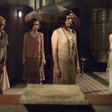 Lidia, Carlota, Marga y Ángeles, preocupadas en 'Las chicas del cable'