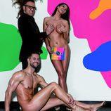 Simona de 'GH 17' posa desnuda junto a su novio y Torito para Primera Línea