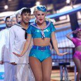 Lucía Gil interpreta a Christina Aguilera en la gala 4 de 'Tu cara me suena'