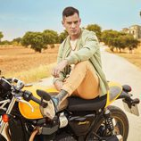 Joel Bosqued en la moto como Manuel en 'El accidente'