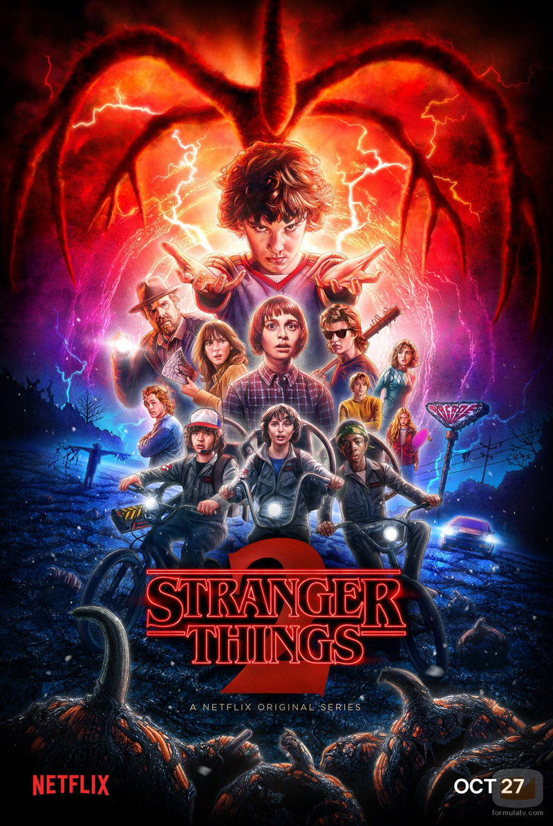 Nuevo póster oficial de la segunda temporada de 'Stranger Things'
