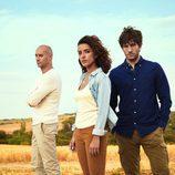 Inma Cuesta, Quim Gutiérrez y Alain Hernánez en 'El accidente'