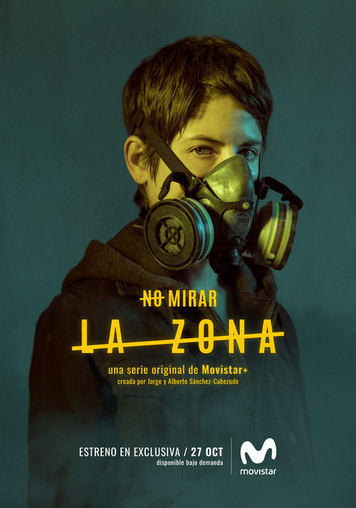 Alba Galocha como Zoe Montero en los carteles de 'La zona'