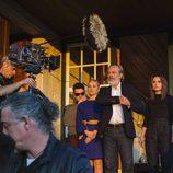 José Coronado, Pilar Castro, Álex Monner y Giulia Charm, rodando 'Vivir sin permiso'
