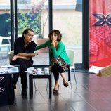 Eva Perales durante los castings de 'Factor X'